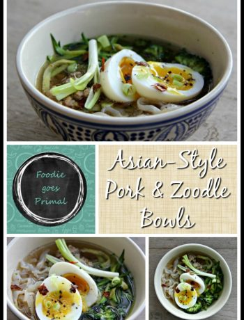 Asian pork & zoodle bowl
