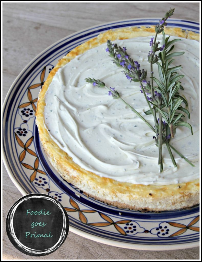 Low Carb Rosemary cheesecake