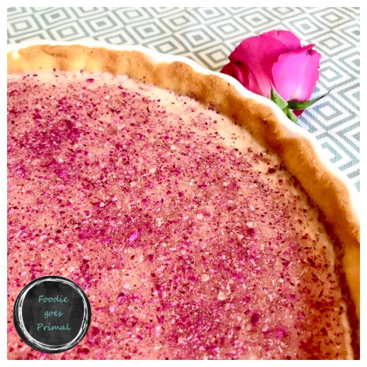 rose & coconut tart