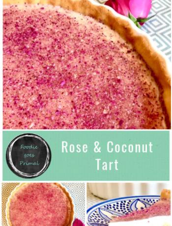 rose & coconut tart